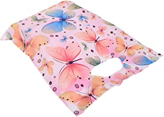 NUOMI Butterfly Plastic Merchandise Bags with Die Cut Handle 100 Pcs Glossy Retail Bags for Shopping, Gifts Wrapping, Goodies, Party Favors, Birthdays