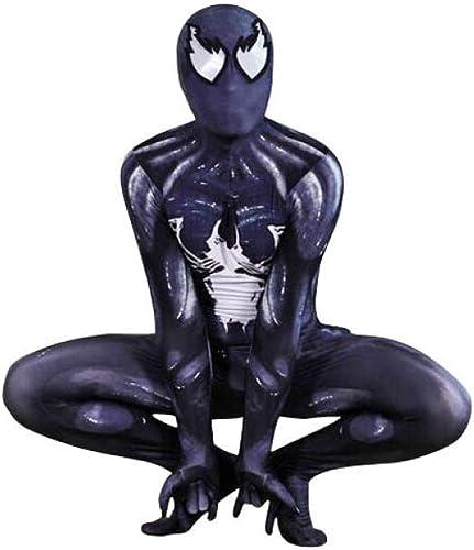 Venom Spiderhomme Costume Body Party Adulte Accessoires De Cinéma Camouflage pour HalFaibleeen,XXL-noir