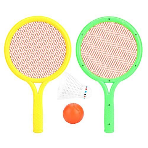 VGEBY Badminton Tennisschläger Set, Sichere Tennisschläger Bälle Badminton Kit mit Leicht zu Greifendem Outdoor Innenbereich für Baby Kinder Pädagogisches Sportspiel