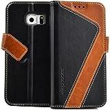 elephones® Handyhülle für Samsung Galaxy S7 Edge Hülle - Kompatibel mit Galaxy S7 Edge Schutzhülle Handy-Tasche Flip Case Cover Schwarz
