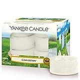 Yankee Candle candeline profumate tea light | Clean Cotton | 12 pezzi