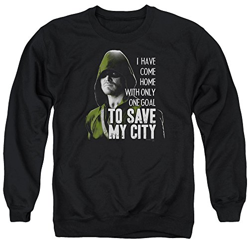Green Arrow - - Save My Ville Pull pour hommes, Large, Black