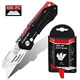Best Carpet Knives - Folding Utility Knife with SK5 Blades 100Pack, RegerKnife Review