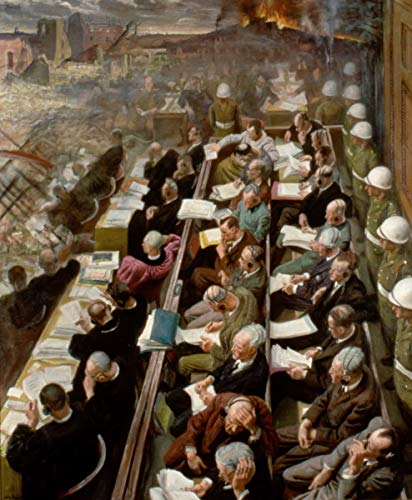 Laura Knight ジクレー 紙に印刷-有名な絵画 美術品 ポスター-再生 壁の装飾(ニュルンベルク裁判) #XZZ