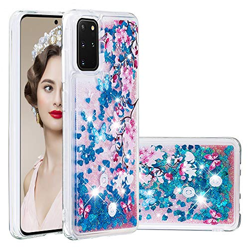 Galaxy S20 Plus Case,ZERMU Ultra Thin Fashion Bling Luxury Quicksand Flowing Floating Glitter Waterfall Fusion Moving Liquid Sparkling TPU Bumper Protection Cover for Samsung Galaxy S20 Plus 6.7' 2020