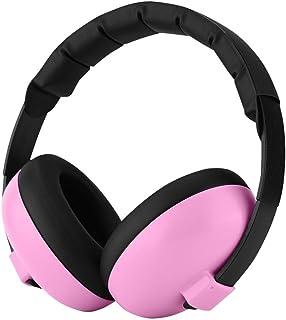 防音イヤーマフ Bewinner ベビーイヤーマフ 赤ちゃん 子供用 ヘッドフォン 柔らかい素材 軽量 装着感よい ヘッドバンド式 耳当て 耳カバー 耳たぶ(ピンク)