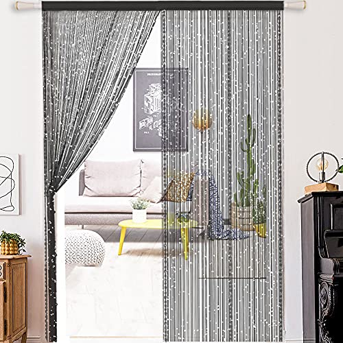 WEIXINHAI Fadenvorhang Fadengardine Vorhang Perlenvorhang - Tür Perlen Vorhänge 100x200cm Raumteiler Anti-Moskito