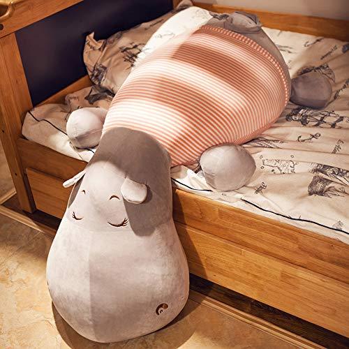 ZRZJBX Kreative Netter PlüSchtier PlüSch Kissen Kuscheltier Kuschelkissen PlüSchkissen Jumbo PlüSch Nilpferd Hippo, GroßEs Kuscheltier, PlüSchtier,Pink-75cm