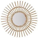 Miroir en rotin diamètre 58 cm Soleil