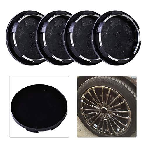 QianHaoQJu XW-LT Covers, 4pcs 50mm Kunststoff-Rad-Mitte Radkappe Set Reifen Trim Rim Radkappen Abdeckungen Auto...