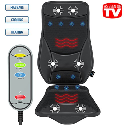 Gideon™ Luxury Cooling and Heating Ventilated Seat Cushion for Car and Home – with Vibrating Massage – 5-Level Cooling - Maximize Comfort During Travel, At Home and Office