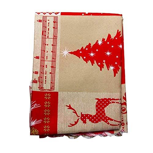 MiOYOOW Mantel de Navidad, Mantel Impreso de Navidad para Hotel Restaurante Boda Impermeable Resistente Al Aceite Decoración