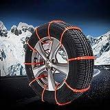 XUPHINX 10pcs Anti-Skid Catene per Pneumatici di Emergenza trazione Auto Invernali Neve Pioggia Pneumatico della Ruota Fascette