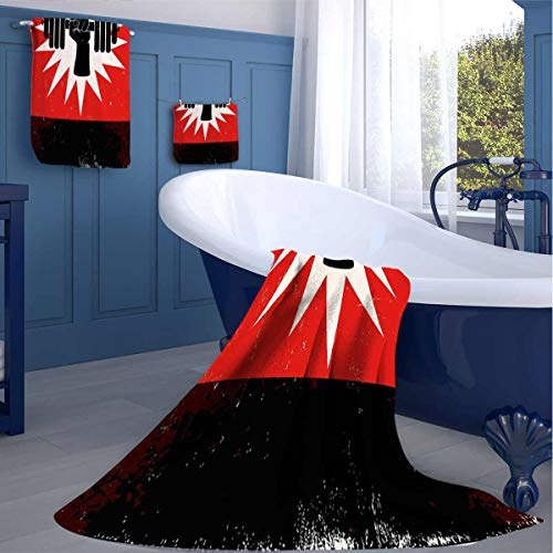 Zara Henry Grunge Dumbbell Lift Absorbent Bath Towel Birthday Gifts for Women Best Friend Fantastic Graphics washcloths