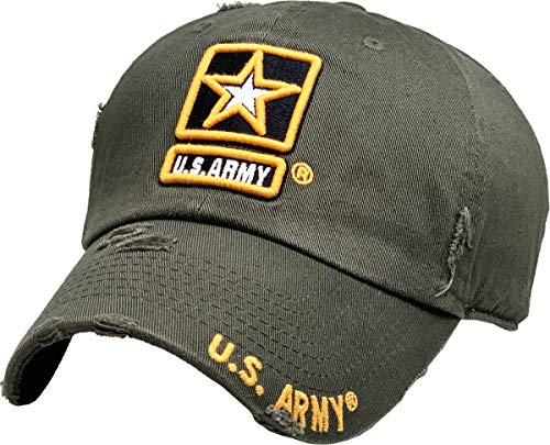 KBARMY-003 OLV US Army Officially Licensed Baseball Cap Military Vintage Adjustable Hat
