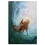 YYAYA.DS Deko Wand Bild Jesus Christus Die Hand Gottes Und
