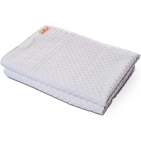 Duschtücher Set weiß 70x140 cm Frottee Baumwolle Duschtuch groß weich 2 Stück