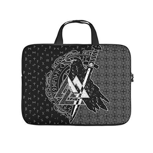 Bolsa para portátil estilo vikingo nórdico, 5 tamaños, elegante, grande, ideal para viajes de negocios