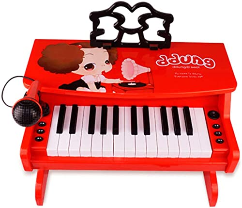 LIPENG-TOY Klavierspielzeug Kinder Anf er Multifunktions-Tastatur Startseite mädchen Anf er 1-3-6-12 Jahre altes Kind Baby (Farbe   rot)