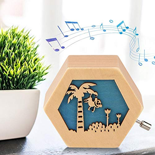Classic Carved Wooden Music Box Music Box, Musical Box, Hand Crank Musical Box, Carousel Music Box for Girls Wooden for Birthday Gift for Daughter for Decoration(Monkey)