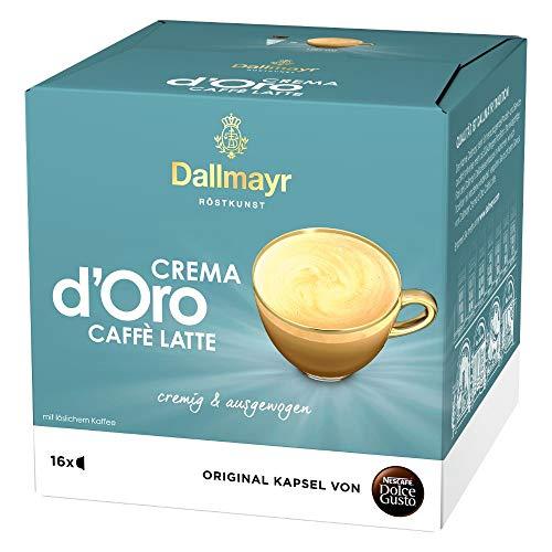 NESCAFÉ Dolce Gusto Dallmayr Crema d´Oro Caffè Latte (16 Kaffeekapseln, 48 Getränke, cremig & ausgewogen) 1er Pack (1 x 16 Kapseln)
