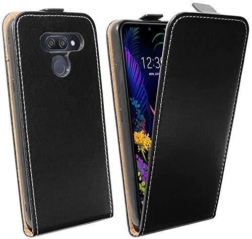 cofi1453® Flip Hülle kompatibel mit LG K50 Handy Tasche vertikal aufklappbar Schutzhülle Klapp Hülle Schwarz
