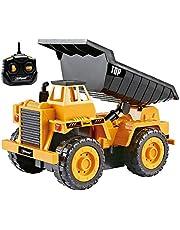 Top Race Camiones de construcción con Control Remoto para niños pequeños, Elija Entre Nuestros 3 diseños fabulosos (Camión de la Basura (112S))