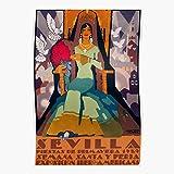 Vintage Spain Festival Flamenco Andalusia Travel Seville Sevilla Cartel Home Decor Wall Art Print Poster !