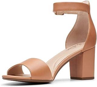 Clarks DEVA MAE Women's Heels, Sandstone Leather D, 5.5 US
