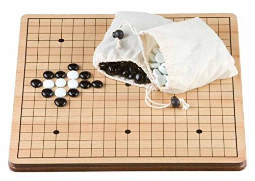 Engelhart 250413 - Jeux de société asiatiques Traditionnels, Le Jeu de GO en Bois 36 cm