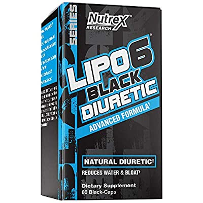 Nutrex Research Lipo-6 Diuretic | Advanced Natural Diuretic Pills for Rapid Water Loss and Bloating Reduction While Supporting Weight Loss and Enhancing Definition | 80 Count