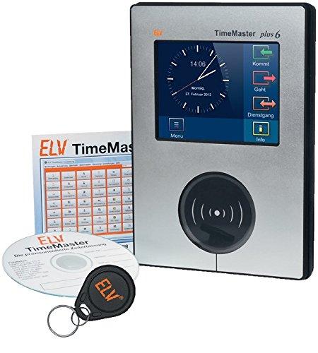 TimeMaster 20234 Zeiterfassungssoftware SB20 mit Erfassungsterminal und Transponder, 12 W, 12 V, schwarz
