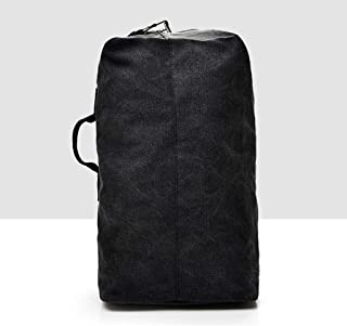 Travel Backpack Fashion Large Capacity Men's Backpack Outdoor Travel Sports Bag Canvas Shoulder Bag Male QDDSP (Color : Black, Size : B)