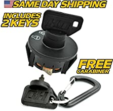 Toro Ignition Switch Time Cutter ZS3200 ZS3200S ZS4200 ZS4200S ZS5000 with 2 Keys & Free Carabiner - HD Switch
