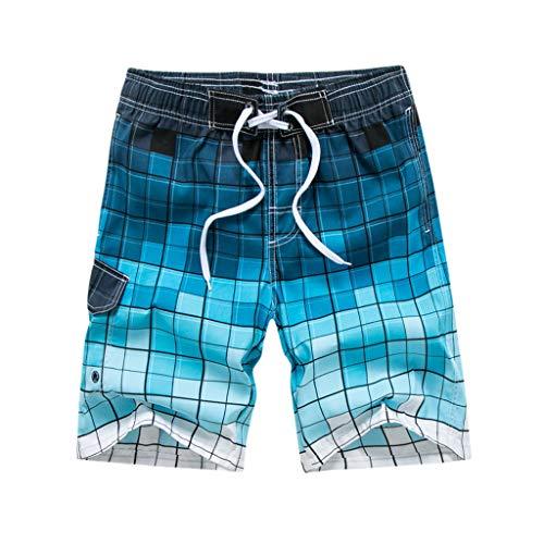 QinMM bañador Hombre natación Moda Banador de natación Surf de Playa Natación Shorts bañadores Verde Azul Gris Hombre Piscina M - 6XL banadores Hombre natación Talla Grande Pantalones Cortos