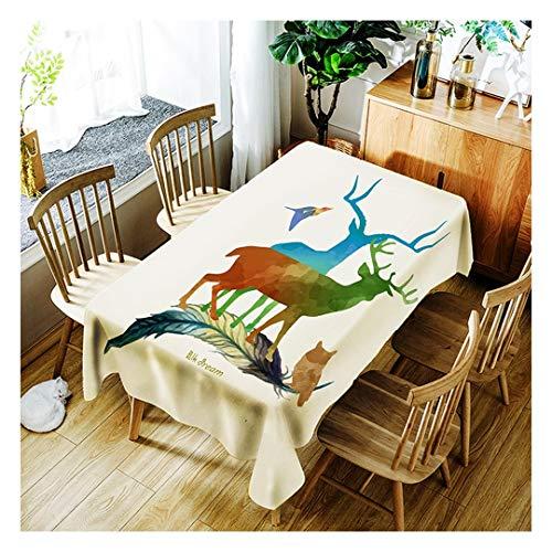 ZHAOXIANGXIANG Minimaliste Élégant Tapis De Table Lavable Artistique Motif Animaux Cartoon Création Décoration Cirée,150Cm×260Cm