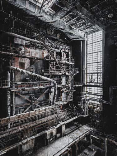 Posterlounge Leinwandbild 70 x 90 cm: Bladerunner von Irnmonkey - fertiges Wandbild, Bild auf Keilrahmen, Fertigbild auf echter Leinwand, Leinwanddruck