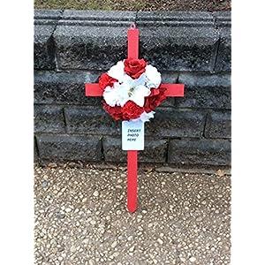 Cemetery Flowers, Cemetery Cross, Photo Memorial, Roadside Memorial