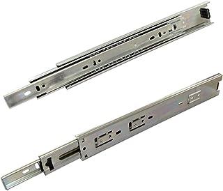 AERZETIX: Par de guías correderas con rodamiento de bolas para cajones extracción total 45mm 45kg (30cm)