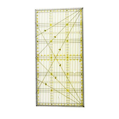 Milisten - Regla de acolchado acrílico, doble color para cortar fácilmente con precisión, costura y manualidades (15 x 30 cm)