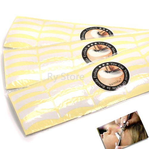Standard Size Eyelash False Lashes Individual Extensions Sticker Professional Tools Tape Pad (3Pack*100Pairs/Pack) by RY