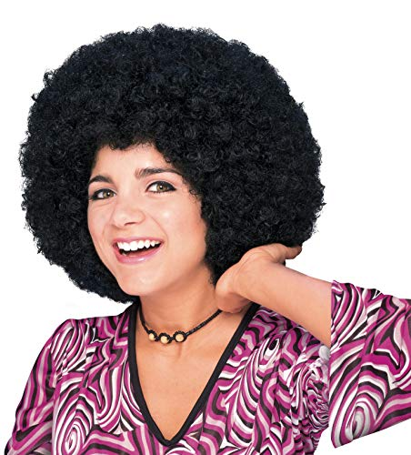 Rubie's - Peluca super afro, color negro (50804)