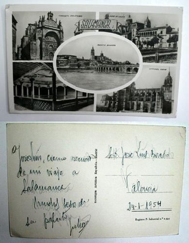 Antigua postal fotográfica. Old photo post card. SALAMANCA