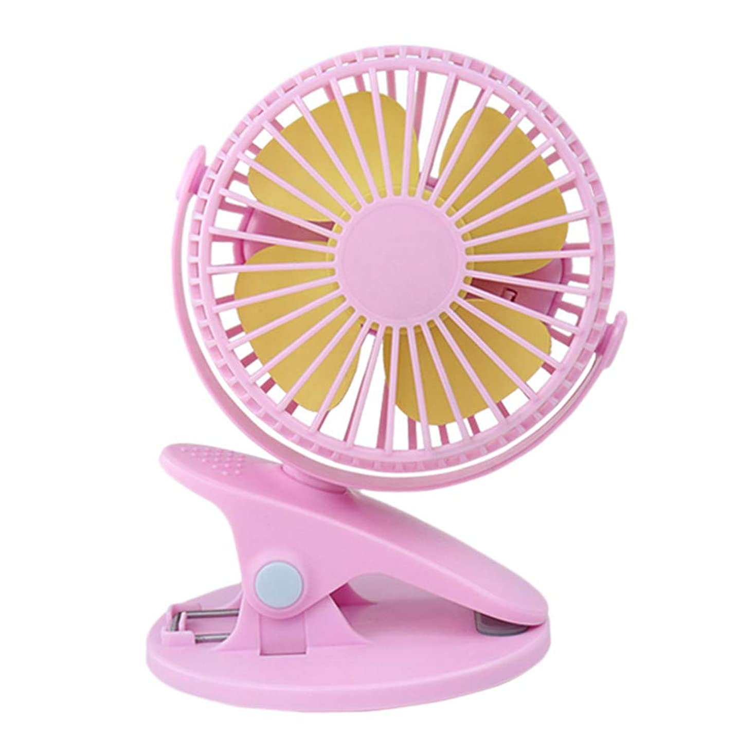 OrchidAmor 360° Portable Camping Fan Rechargeable USB Clip On Mini Desk Fan Pram Cot Car