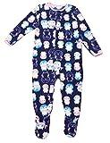 Carter's Child of Mine Made Little Girls' Toddler Microfleece Blanket Sleeper Navy (4T)