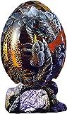 ZHEYANG Juguetes Dinosaurios Adornos de Escritorio de Recuerdo de dragón de Huevo de dragón Transparente coleccionables Model:G01309(Color:Red;Size:Lava Base)
