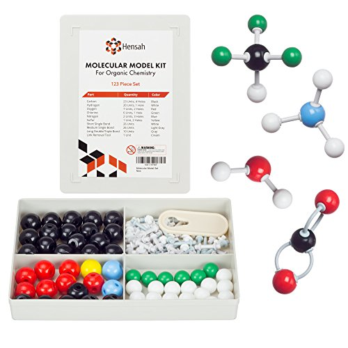 Chemistry Model Kit - Molecular Model Kit for General and Organic Chemistry - Student and Teacher Molecular Modeling Set (123 Pieces)