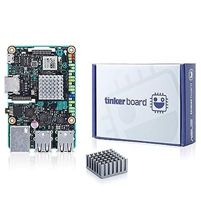 ASUS SBC Tinker Board RK3288 SoC 1.8GHz Quad Core CPU, 600MHz Mali-T764 GPU, 2GB DDR3 Singleboard Computer