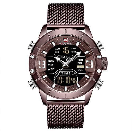 Naviforce Herren-Armbanduhr, Quarzuhrwerk, Chronograph, 3 ATM wasserdicht, für Herren, leger, Business, Herrenuhr, bestes Geschenk für Männer
