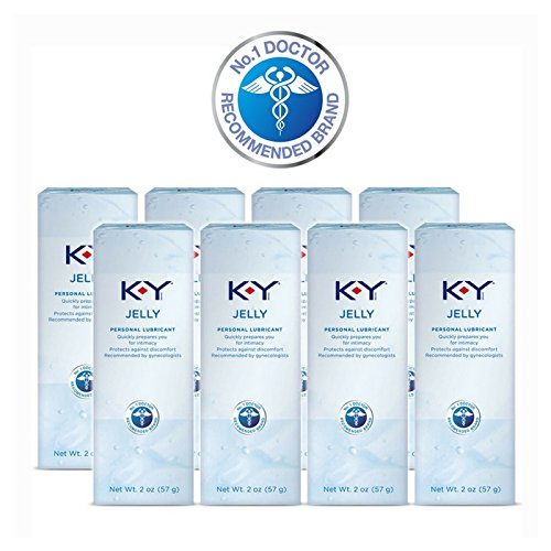 K-Y Jelly Personal Lubricant 2 oz (Pack of 8)